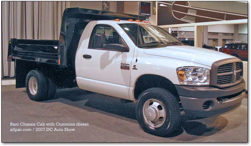 2007-09 Dodge Class 3 Chassis Cabs: Medium-Duty Dodge Ram 3500