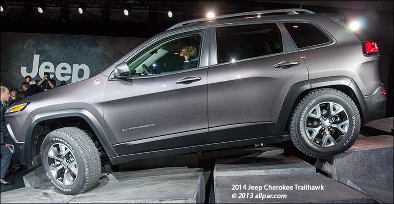 2014 jeep cherokee trailhawk on rocks