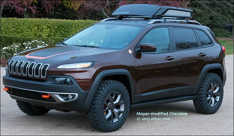 Cold Air Intake Jeep Grand Cherokee Mopar concept cars for SEMA 2013: Jeep Cherokee Trail Carver