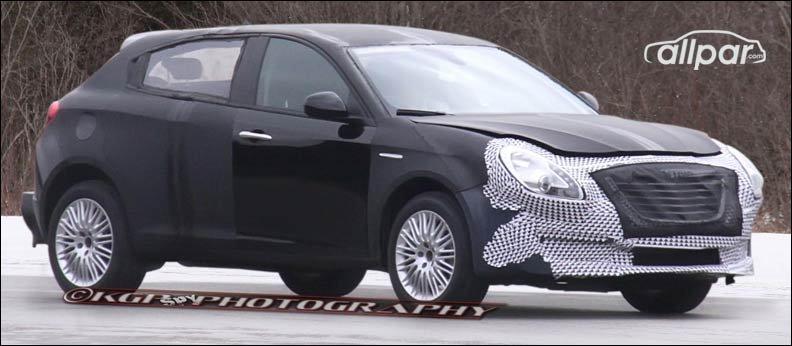 Chrysler 100C spy shot