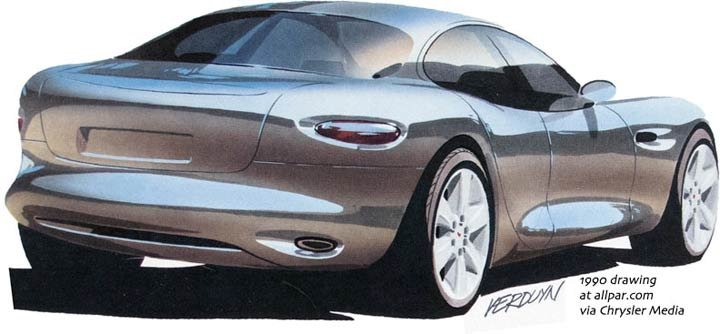 1991 Chrysler 300: Viper-Based V10 Concept Four-Door Sports Car