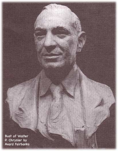 bust of Walter P. Chrysler by Avard Fairbanks