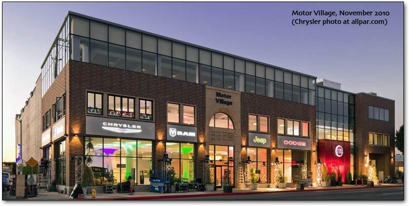 Chrysler dealer: Motor Village, Los Angeles