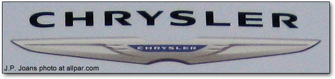 chrysler logo detail from dealer sign