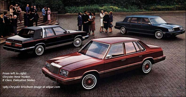 1983 chrysler car line