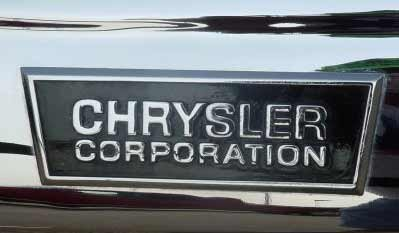 chrysler corporation nameplate
