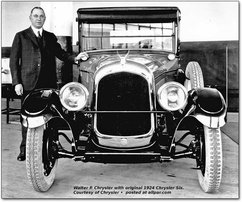 walter p. chrysler with 1924 Chrysler Six