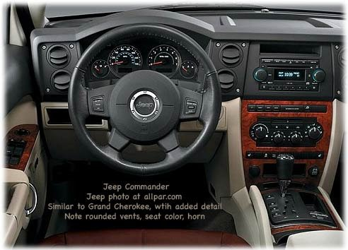 inside the 2006 jeep commander