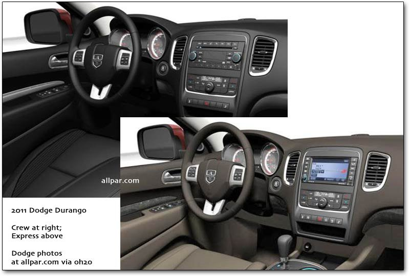 Durango interior comparisons