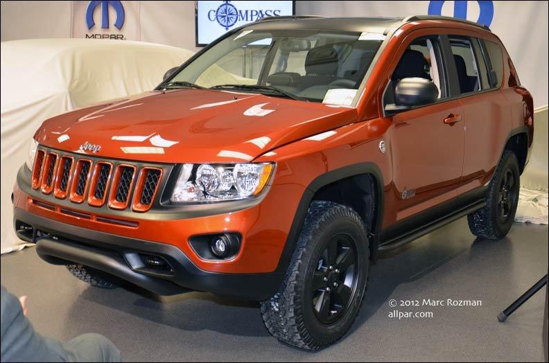 2012 Mopar Cars 300 500 Stinger Jeep Compass True North