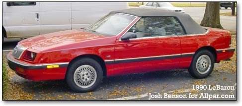 Chrysler lebaron coupe and convertible sciox Image collections
