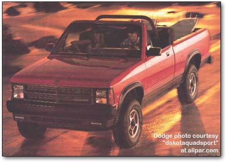 Convertible on 1986 Dodge Dakota