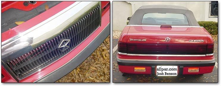 Chrysler lebaron coupe and convertible 1990 chrysler lebaron convertible fandeluxe Gallery