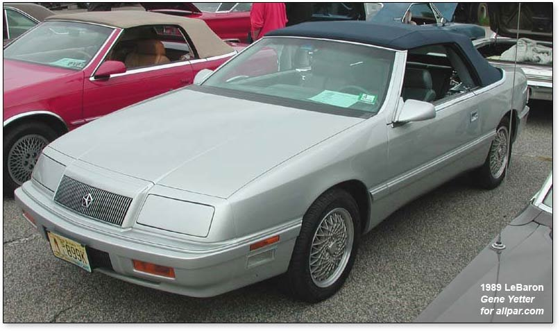 five of them, including Watts, own Chrysler LeBaron convertibles.