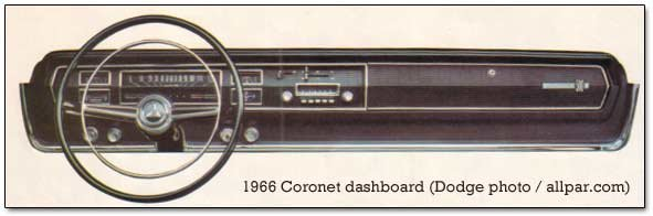 dodge coronet dashboard, 1966