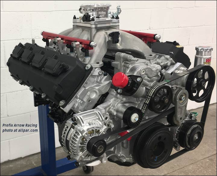 News: Prefix Arrow Racing: new 392 crate engines