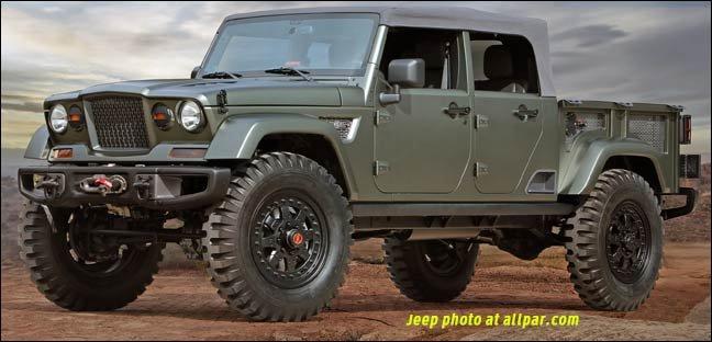 San Antonio Dodge Chrysler Jeep >> Jeep Crew Chief 715: 2016 Moab concept pickup