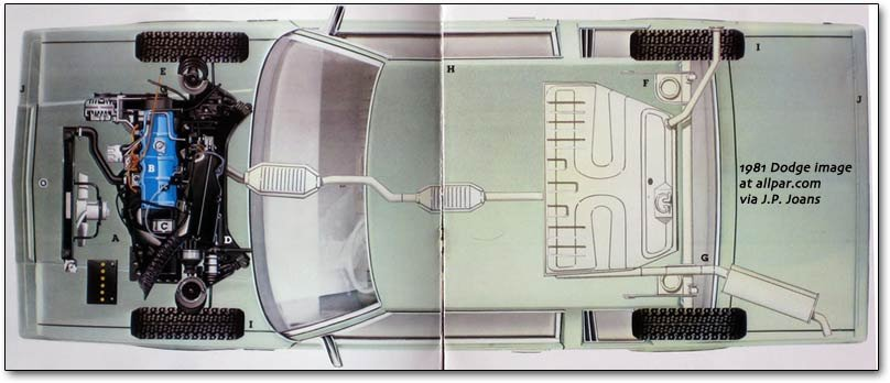 dodge aries cutaway drawing