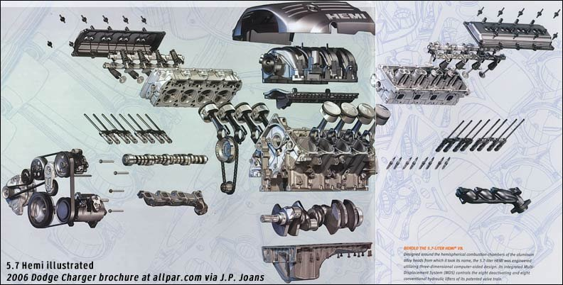 The Modern 57 Mopar Hemi V8 Engine