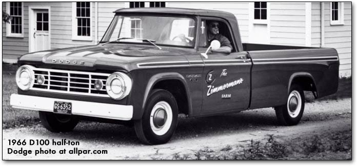 1966 Dodge trucks and vans