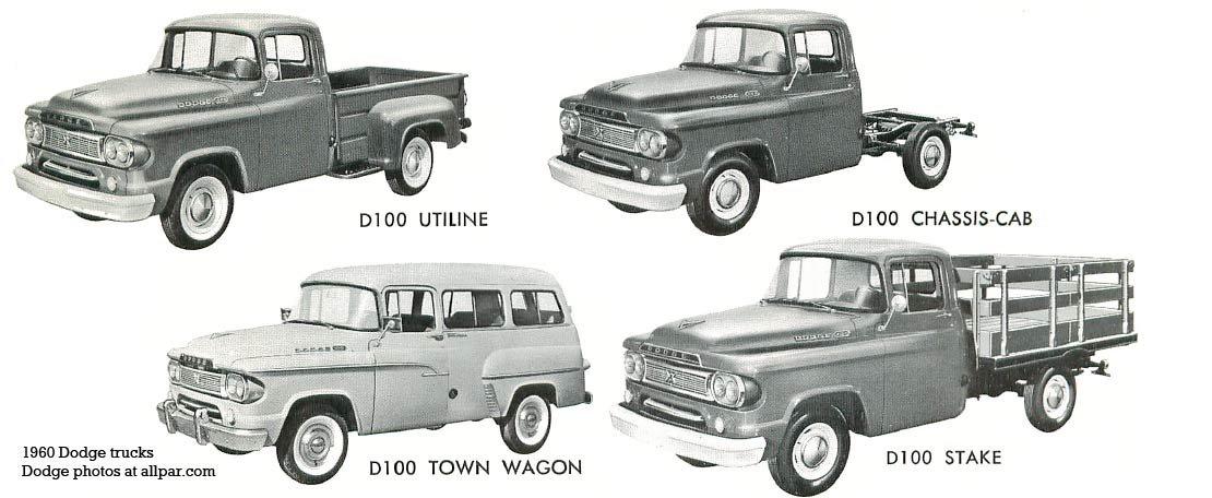 1960 dodge trucks d100 truck lineup publicscrutiny Choice Image