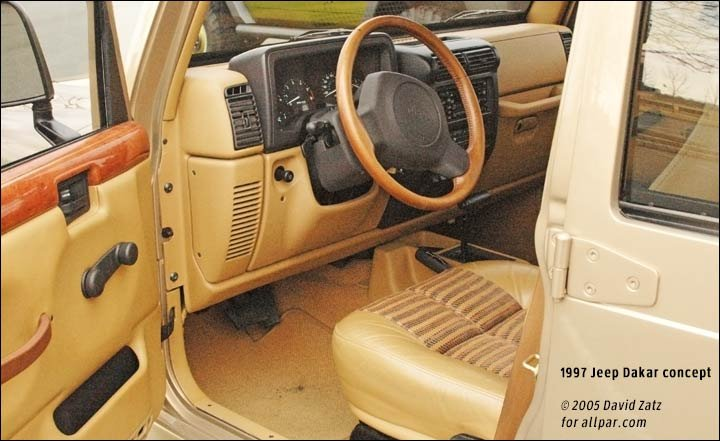 Jeep Dakar interior