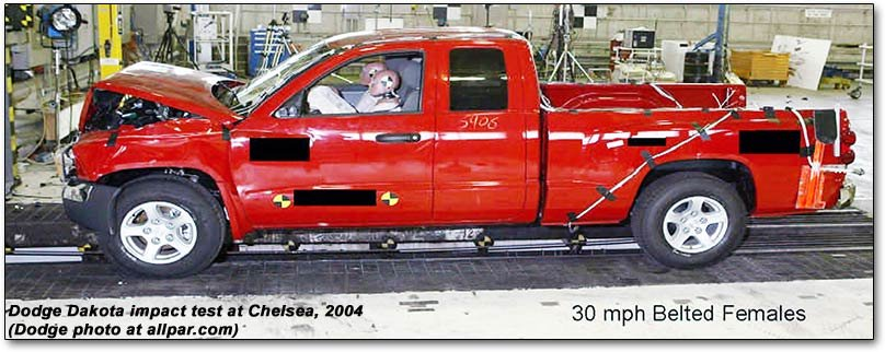 Dodge Dakota crash test at Chelsea Proving Grounds