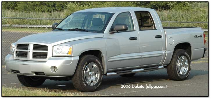 dodge dakota offroad. front of the dakota car