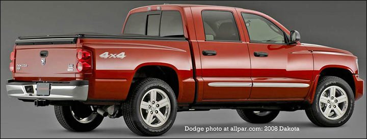 rear - 2008 dodge dakota