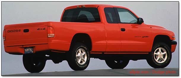 rear of 1997 dodge dakota pickup trucks