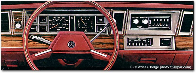 Dashboard on 1988 Dodge Aries