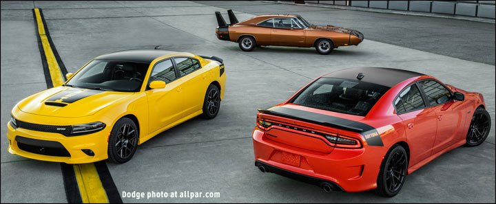 new and old Charger Daytonas