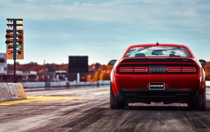 Dodge Demon at the track