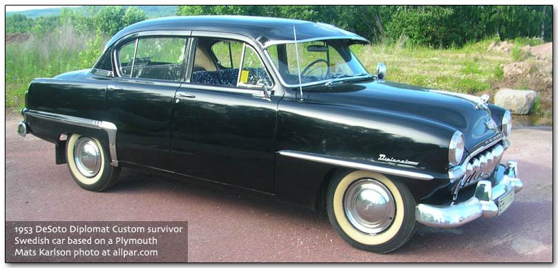 Export Desoto Cars Converted Plymouths And Dodges