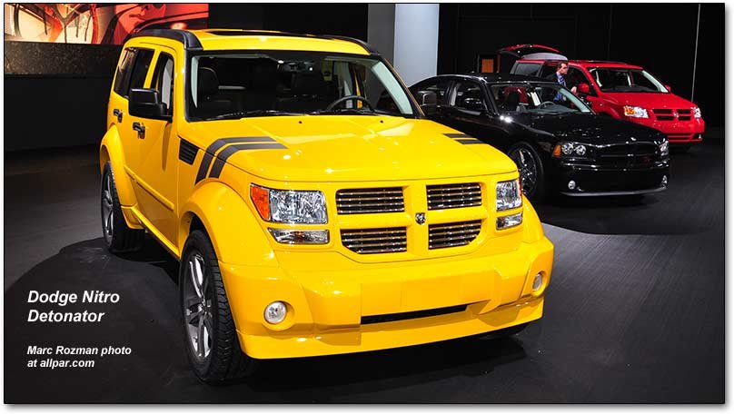 Dodge Nitro Detonator yellow