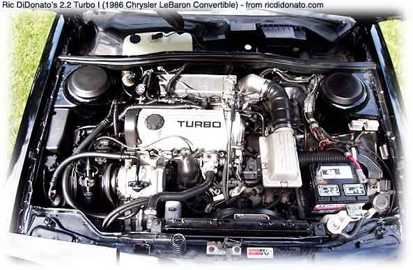 another photo of a 2.2 turbocharged chrysler engine
