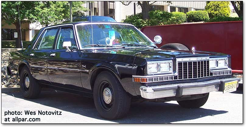 The dodge diplomat and plymouth gran fury police cars for 1987 dodge diplomat salon