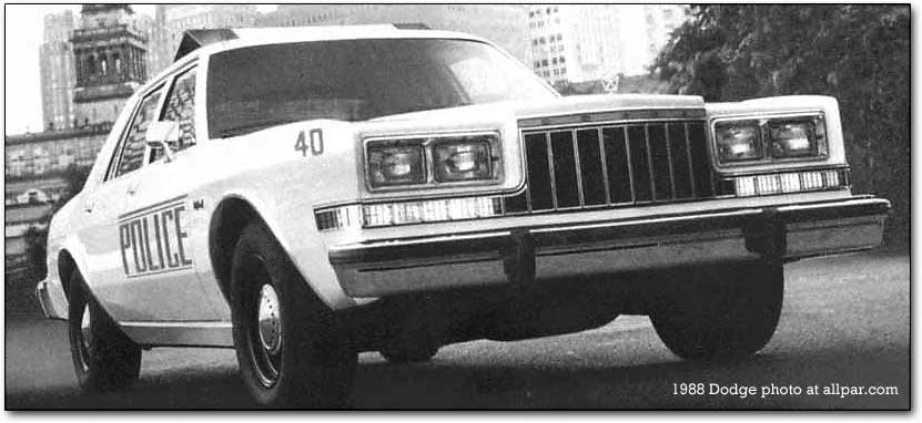 1988 dodge diplomat squad car