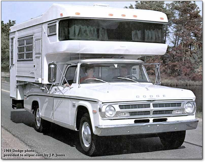 Dodge campers and motor homes with 1970 details