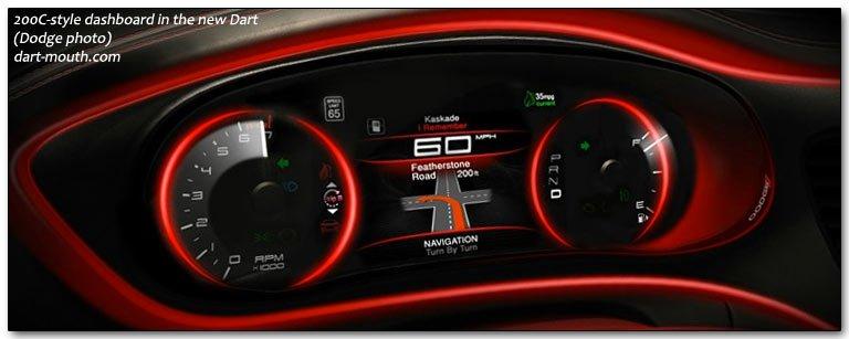 2013 dart car gauges