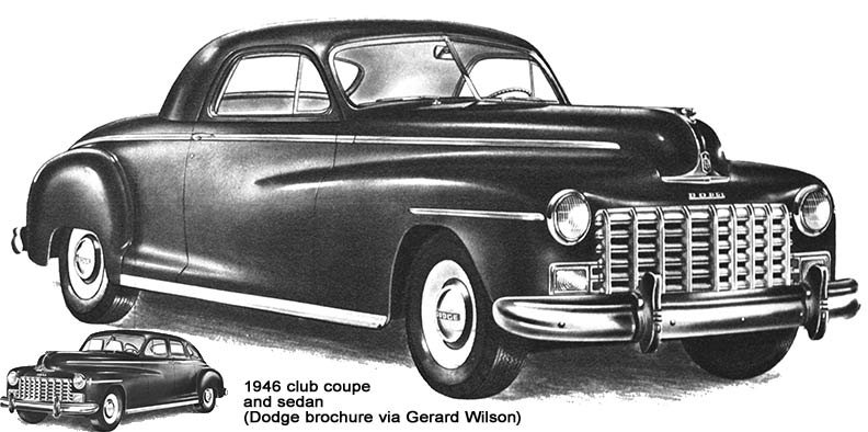 1946 Dodge coupe and sedan