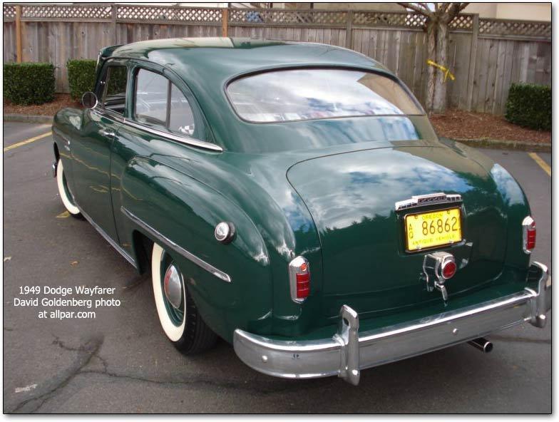 1949 1952 dodge wayfarer stylish smaller dodges for 1949 dodge 2 door sedan