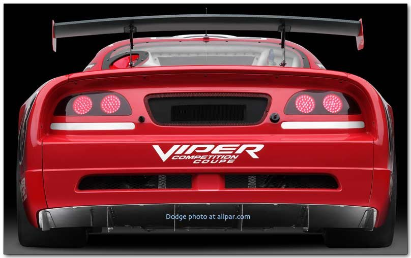 Dodge Viper Competiton Coupe cars