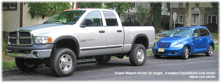 dodge power wagon - size