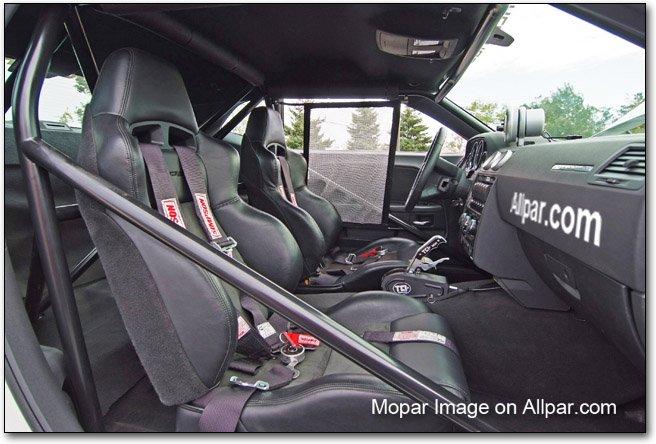 2011 Dodge Challenger Drag Pak interior