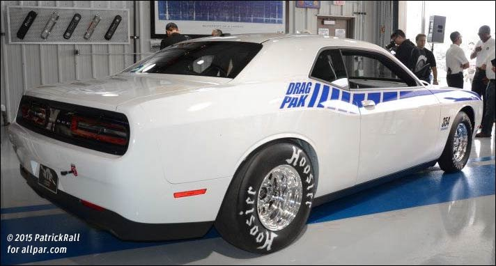 Mopar Challenger drag car
