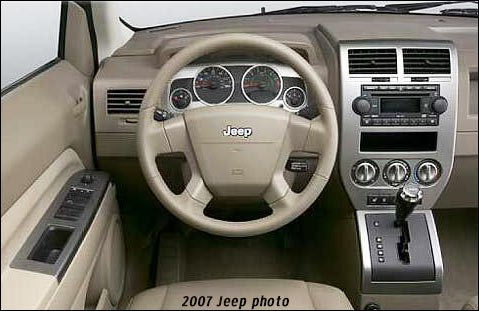 inside the jeep compass