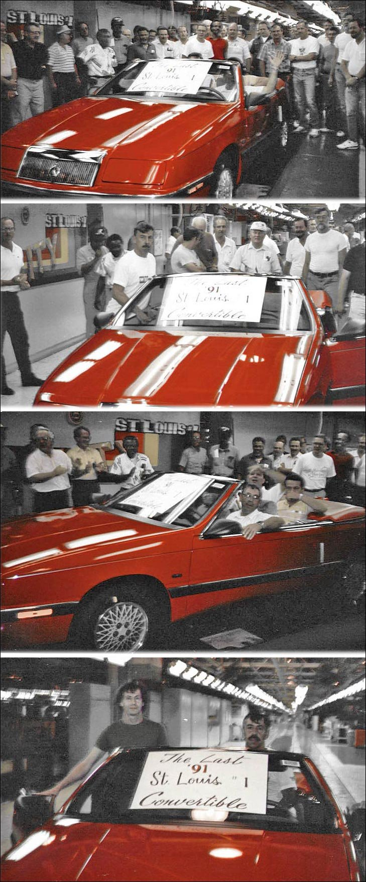 Driving the last Chrysler LeBaron convertible off the St. Louis assembly line