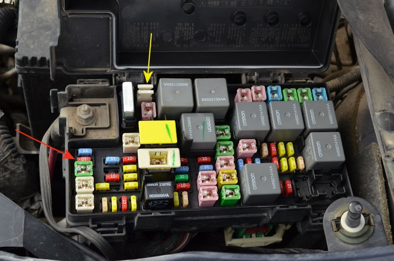 2011 dodge grand caravan fuse diagram