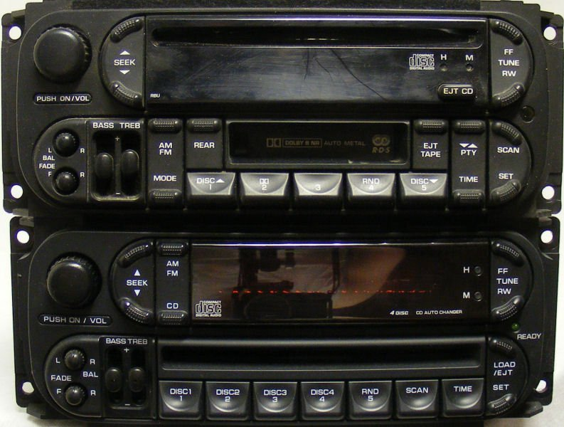 """A Guide to Chrysler (Dodge, Jeep, Plymouth) Stereo """"Head Units"""""""